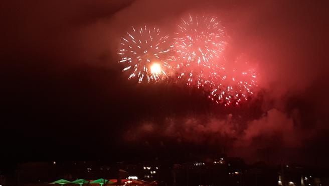 Noche de los Fuegos de Begoña, en Gijón