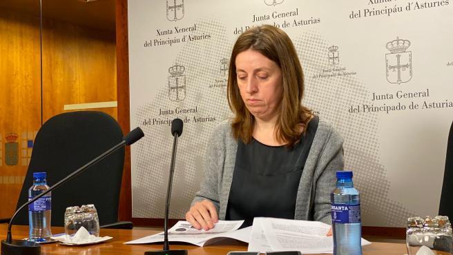 Portavoz de Podemos en la Junta General del Principado de Asturias, Lorena Gil.