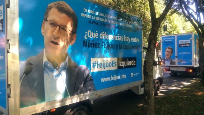 Camiones de 'HazteOir' ante la Xunta