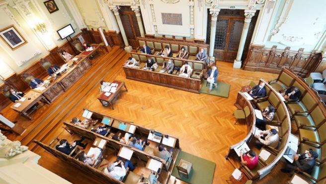 Pleno del mes de julio de 2020 en el Ayuntamiento de Valladolid.