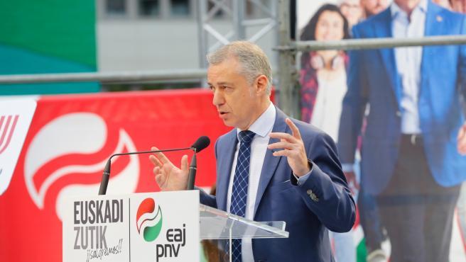El candidato del PNV a la reelección como Lehendakari, Iñigo Urkullu