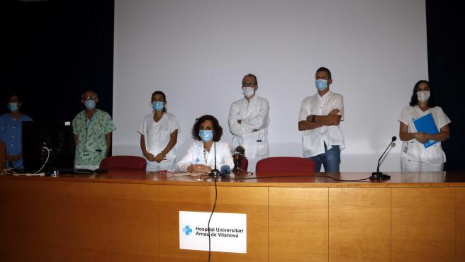 La Junta clínica de l'Hospital Arnau de Vilanova ha leído un manifiesto ante la situación de rebrotes de coronavirus en el Segrià.