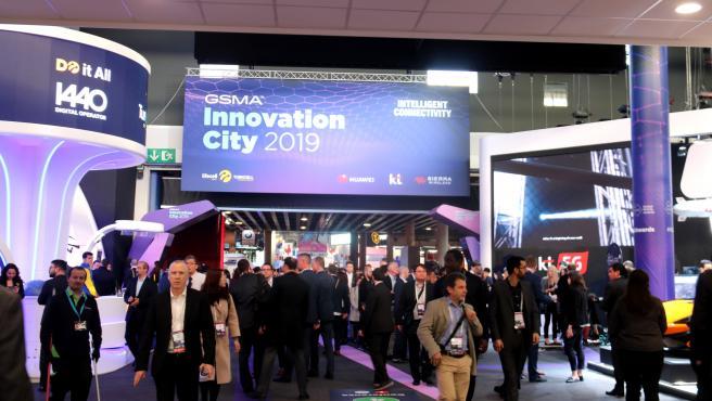 Última edición del Mobile World Congress, celebrado el 2019 en la Fira de Barcelona.