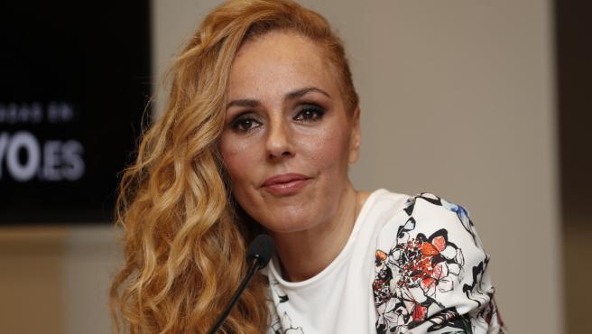Rocio Carrasco, en un encuentro con la prensa, en Madrid.