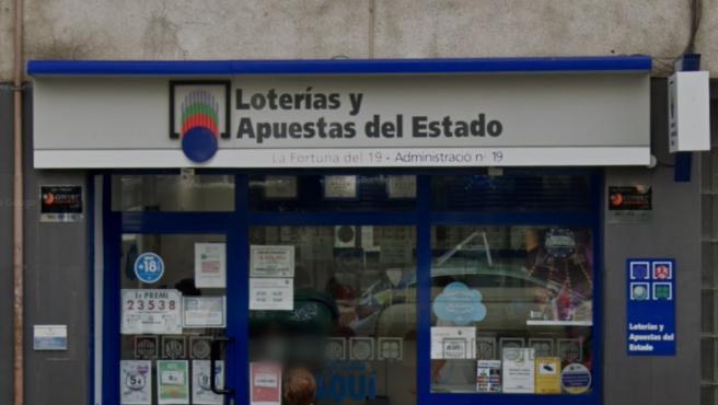 La administración de loterías número 19 de L'Hospitalet de Llobregat (Barcelona).
