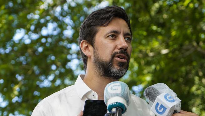 Antón Gómez-Reino en declaraciones a los medios