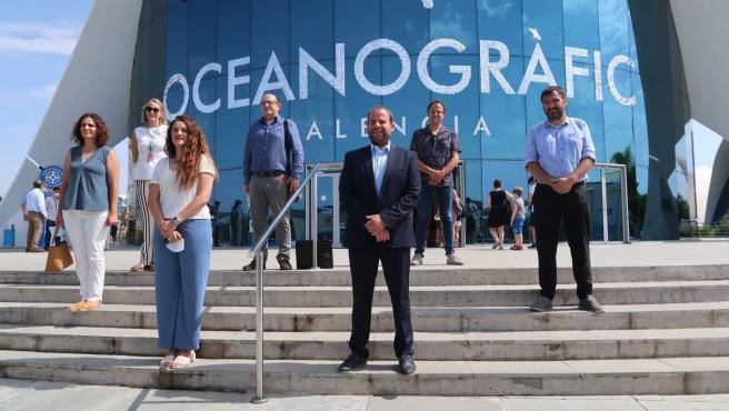 El conseller de Medio Ambiente de Baleares, Miquel Mir, en el Oceanogràfic de Valencia