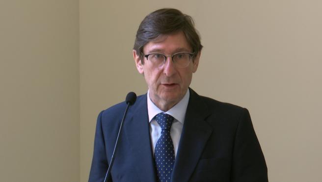 El presidente de Bankia, José Ignacio Goirigolzarri, durante su estancia en València este jueves.