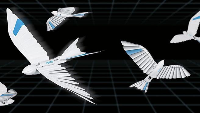 Las alas se han inspirado en el plumaje de los pájaros