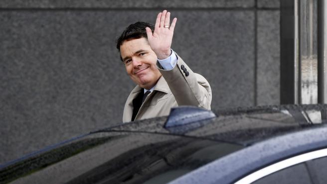 Paschal Donohoe, a su llegada a la reunión de ministros de Finanzas.