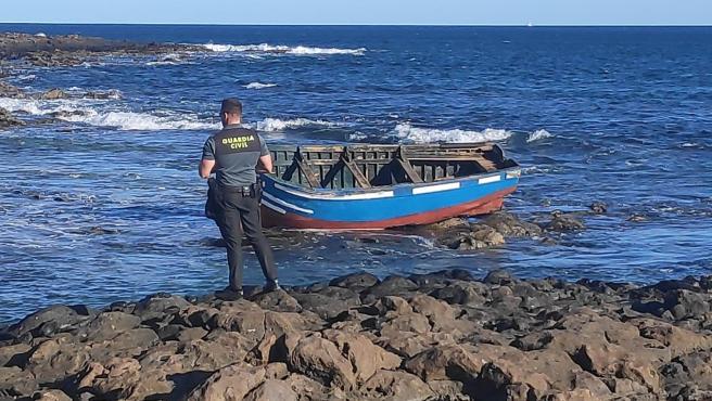 Patera llegada a Lanzarote en una imagen de archivo