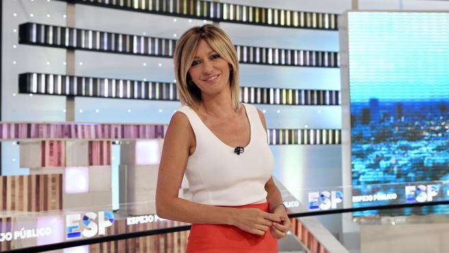 Susanna Griso, en el plató de 'Espejo Público'.