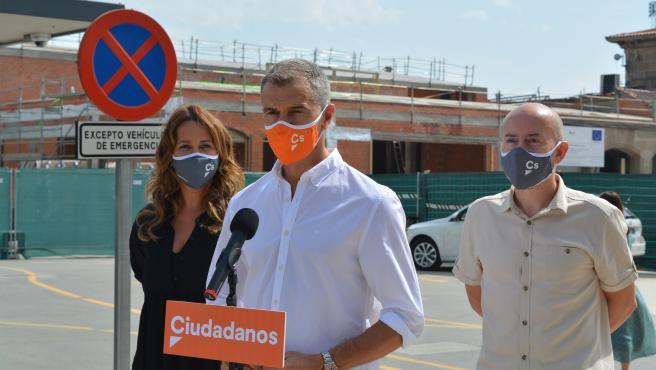 Toni Cantó en un acto de campaña de Ciudadanos en Ourense.