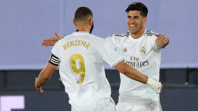 Los goleadores de la noche del Real Madrid ante el Alavés.