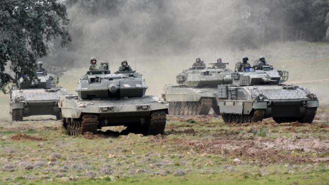 Carros de combate de la BRI X han participado en la misión en Letonia.