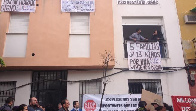 Bloque de viviendas ocupado en Marqués de Pickman Bloque de viviendas ocupado en Marqués de Pickman (Foto de ARCHIVO) 21/12/2012