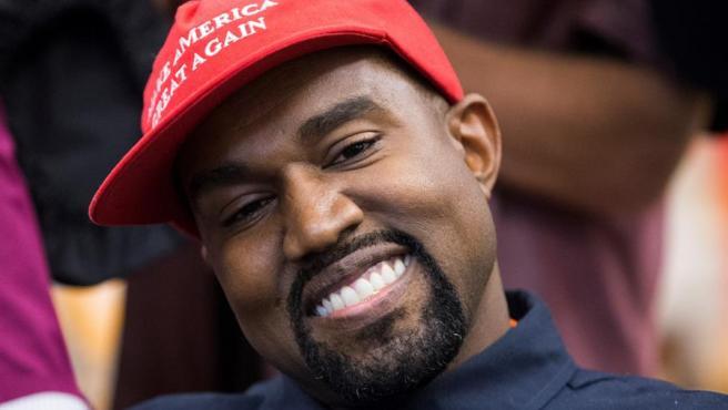 Kanye West, durante un encuentro con el presidente de EE UU, Donald Trump, en la Casa Blanca, el 11 de octubre de 2018.