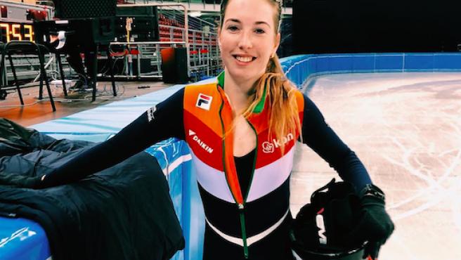 La patinadora y medallista olímpica Lara van Ruijven.