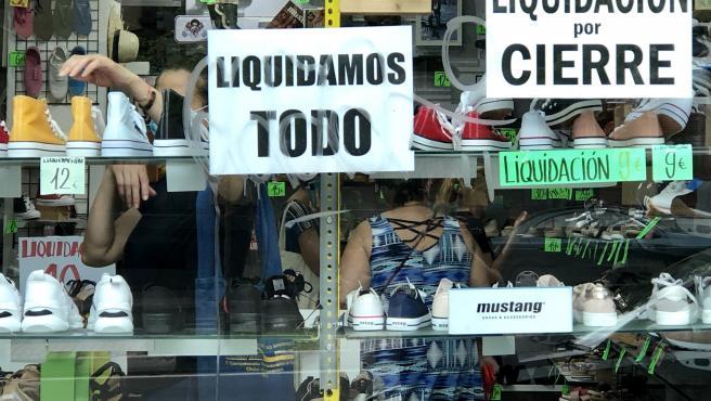 Un negocio en liquidación por cierre.