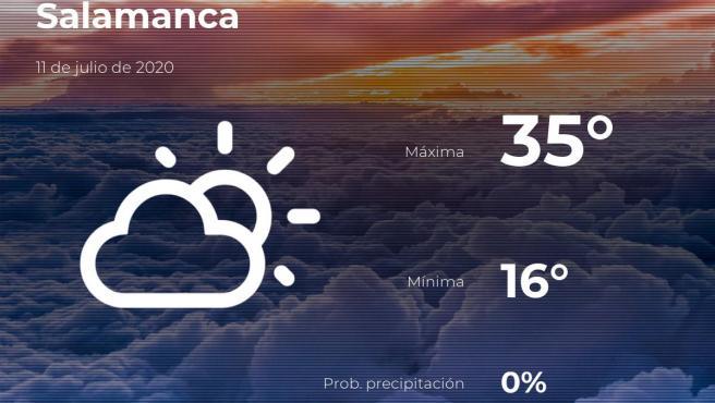 El tiempo en Salamanca: previsión para hoy sábado 11 de julio de 2020