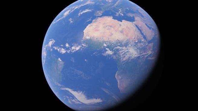 Imagen de la Tierra con Google Earth.