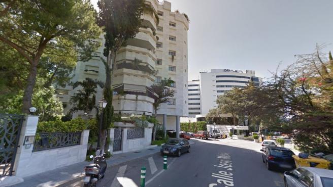 Zona hotelera en la calle José Meliá de Marbella.