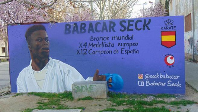 Mural de Babacar Seck en Zaragoza