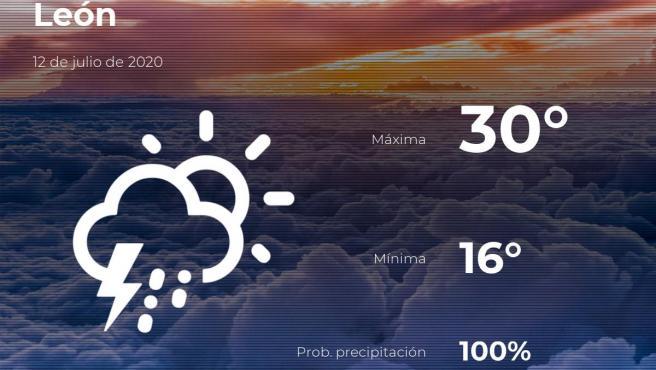 El tiempo en León: previsión para hoy domingo 12 de julio de 2020