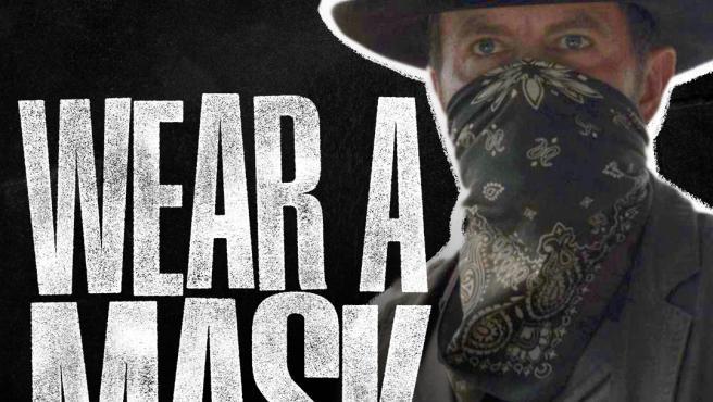 'Fear The Walking Dead', animando al uso de mascarilla.