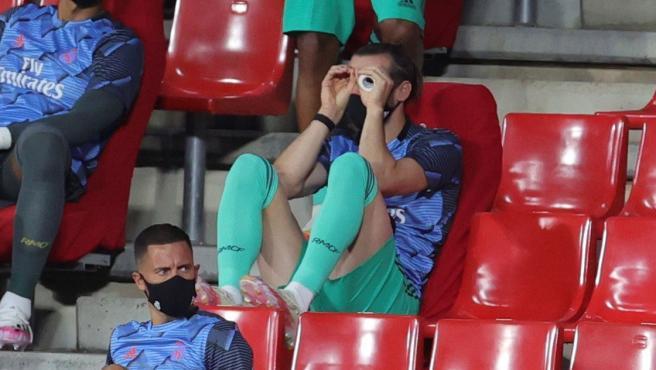 Gareth Bale, en el banquillo