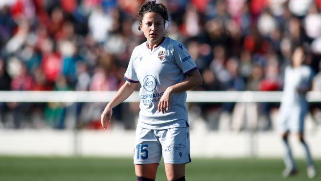 Ivana Andrés, durante un partido con el Levante