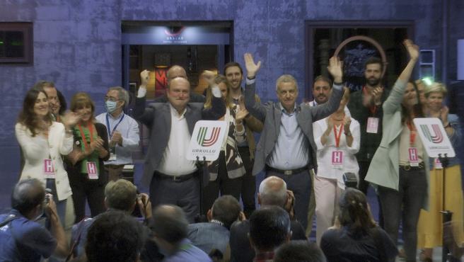 PNV celebra los 31 escaños obtenidos al Parlamento Vasco