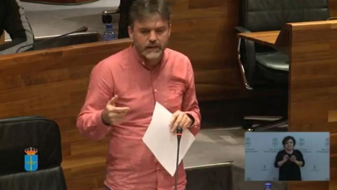 El diputado de Ciudadanos, Luis Fanjul interviene en el Pleno de la Junta.