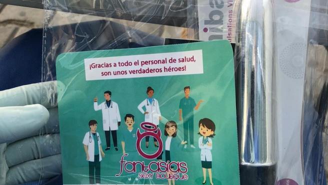 """""""Kit sexual"""" regalado a algunas enfermeras"""