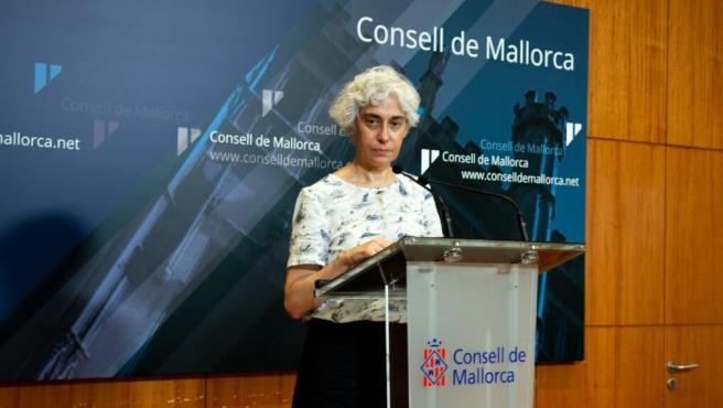 La portavoz de Unidas Podemos en el Consell, Magdalena Gelabert.