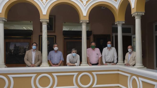 Rafael Muñoz, Francisco Prior, Miguel Ángel Matellanes, Miguel Cruz, Gervasio Posadas y Ángel Moliní, integrantes del jurado