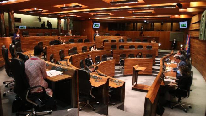 20200520 OVIEDO.- JGPA. Pleno semipresencial miércoles 20 de mayo. FOTO: JGPA/Jose Vallina....
