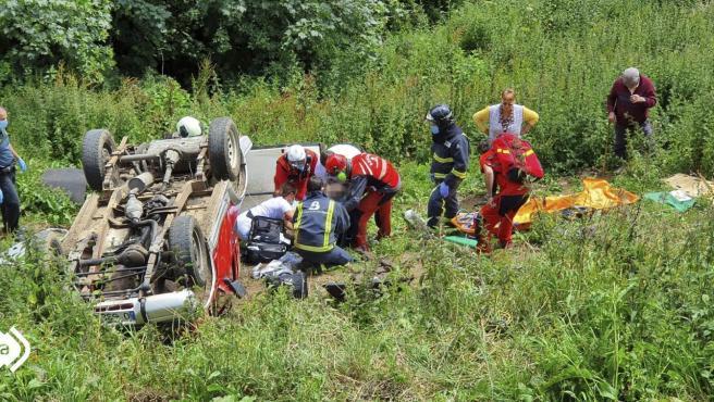 Accidente de tráfico en Belmonte de Miranda.