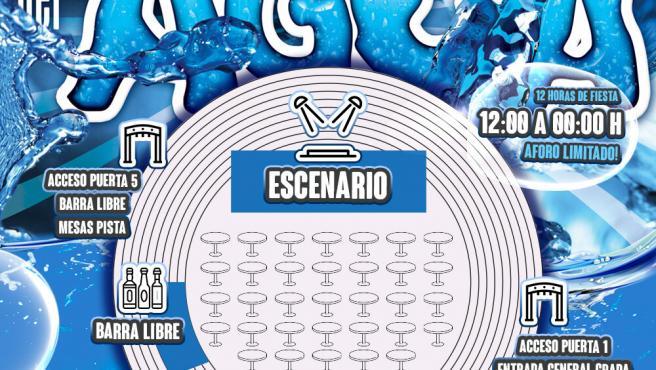 Cartel de la fiesta del agua de Leganés.