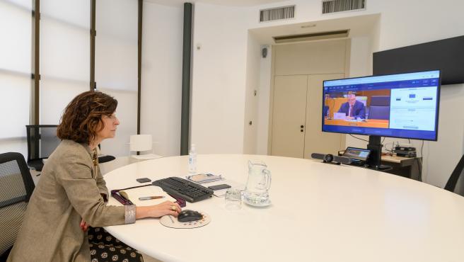 La secretaria de Acción Etxerior del Gobierno Vasco, Marian Elorza, participa en el Comité europeo de Regiones
