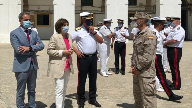 Sandra García en el Tercio de Armada en San Fernando