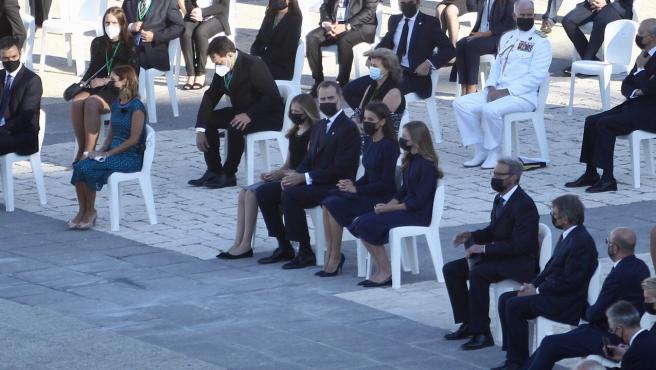La Familia Real en el homenaje a las víctimas de la Covid.