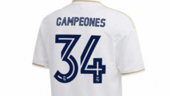 La camiseta que el Real Madrid puso a la venta antes por error.