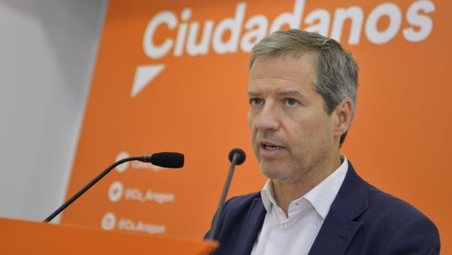 Portavoz del grupo parlamentario de Cs en las Cortes de Aragón y miembro de la Ejecutiva Nacional de la formación, Daniel Pérez Calvo.