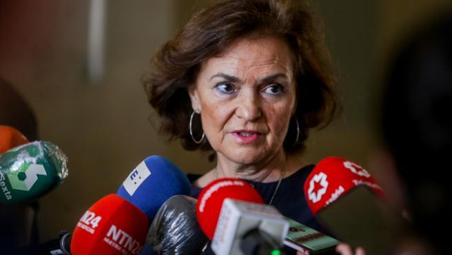 La vicepresidenta primera del Gobierno, Carmen Calvo, en una imagen de archivo