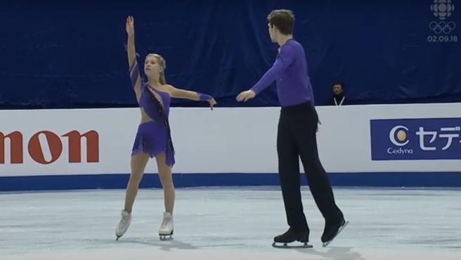 Ekaterina Alexandrovskaya y Harvey Winston, en el Mundial de 2017