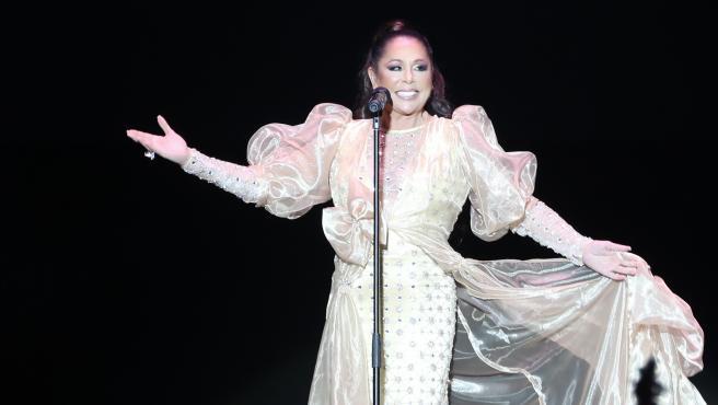 Isabel Pantoja durante un concierto en marzo de 2020.