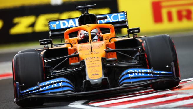 Carlos Sainz, durante el GP de Hungría