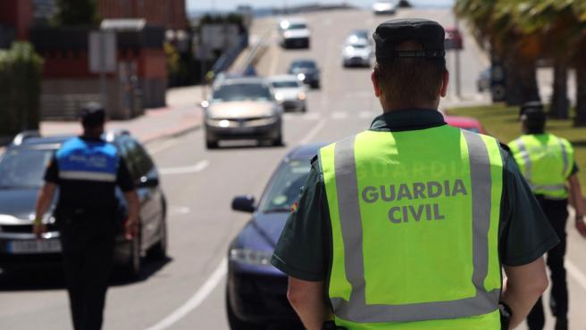 Controles de la Guardia Civil en Zaragoza.