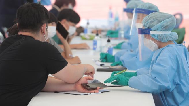 Test de coronavirus en Corea del Sur.